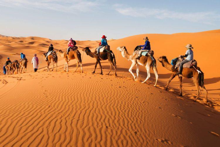 excursion merzouga paseo en camellos